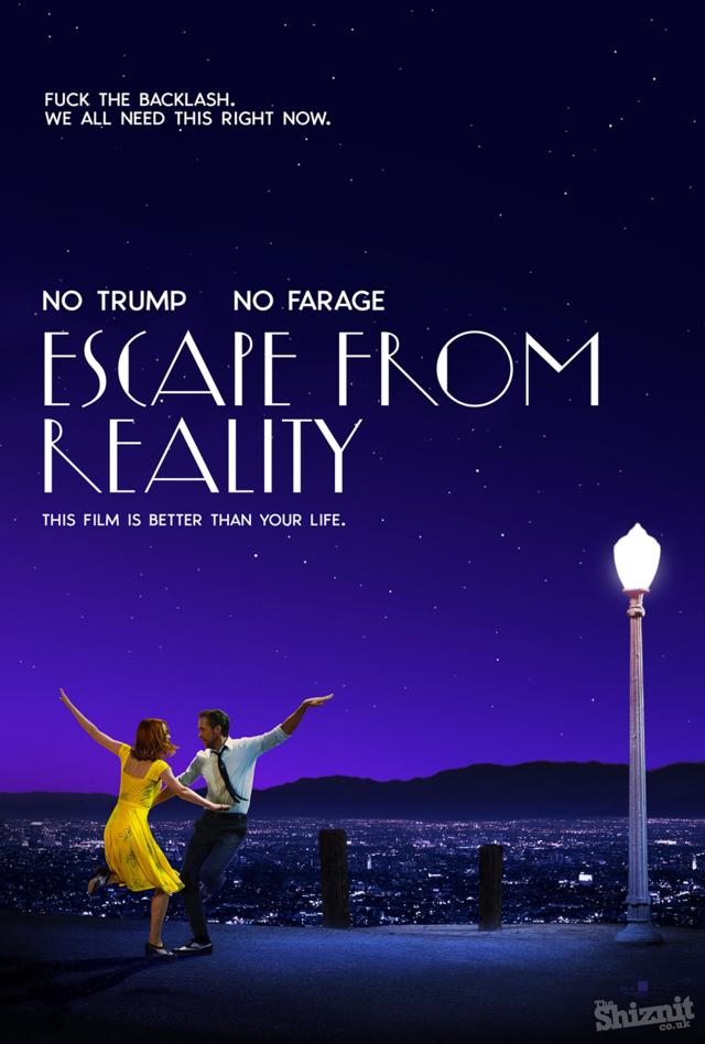 """""""Ez a film jobb, mint az életed!"""" - olvasható a 14 Oscar-díjra jelölt Kaliforniai álom című film kamuplakátján."""