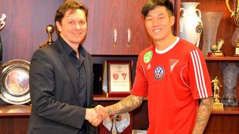 A Portótól szerzett 18-szoros dél-koreai válogatottat a DVSC