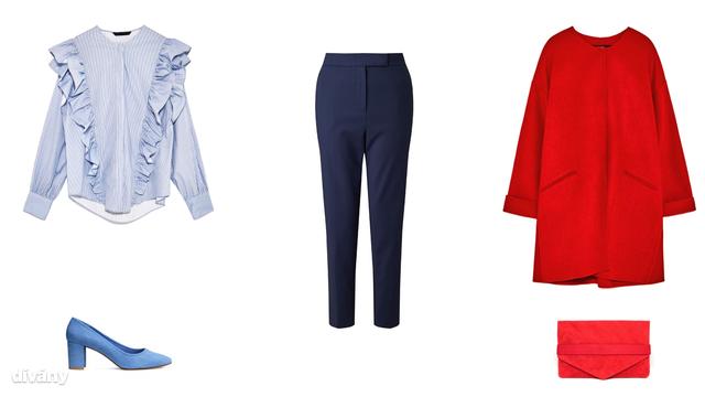 Blúz - 9995 Ft (Zara), nadrág - 5990 Ft (F&F), kabát - 22995 Ft (Zara) , cipő - 5990 Ft (H&M) , táska - 36 font (Asos)