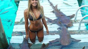 Ha elég erősen koncentrál, a bikinis jogászlány fotóin egzotikus lényeket láthat