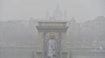 Még most is nagy a szmog Budapesten
