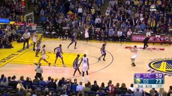Curry már ünnepelt, pedig hol volt még a dobás?