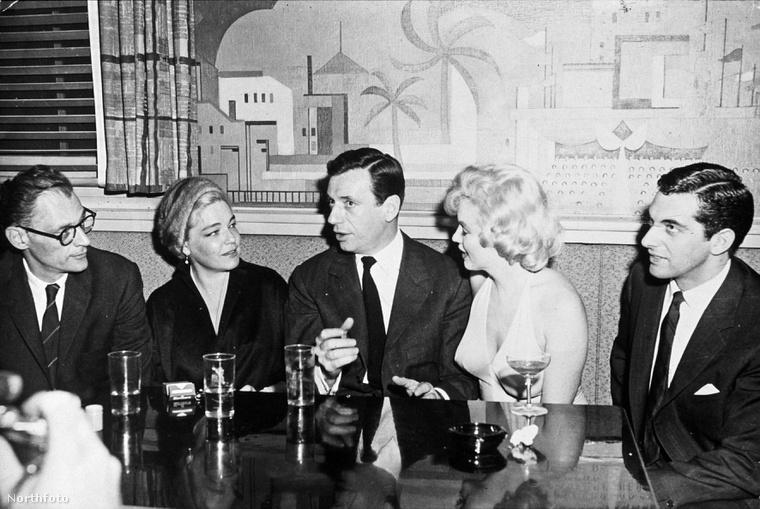 Arthur Miller, Simone Signoret, Yves Montand és Marilyn Monroe.