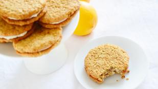 Pénteki süti: zabpelyhes citromos korongok