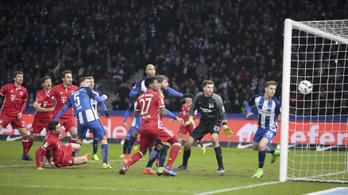 Dárdai Herthája a 96. percben bukta a győzelmet a Bayern ellen