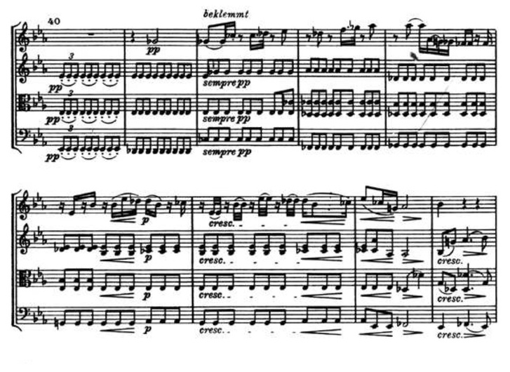 Részlet Beethoven Cavatinájából (B-dúr vonósnégyes, op. 130)