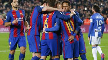 Messi gólöröme mutatja, mekkora a baj a Barcánál