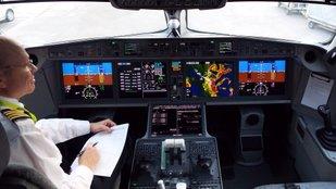 Az Air Baltic Cseries 300-as gépe