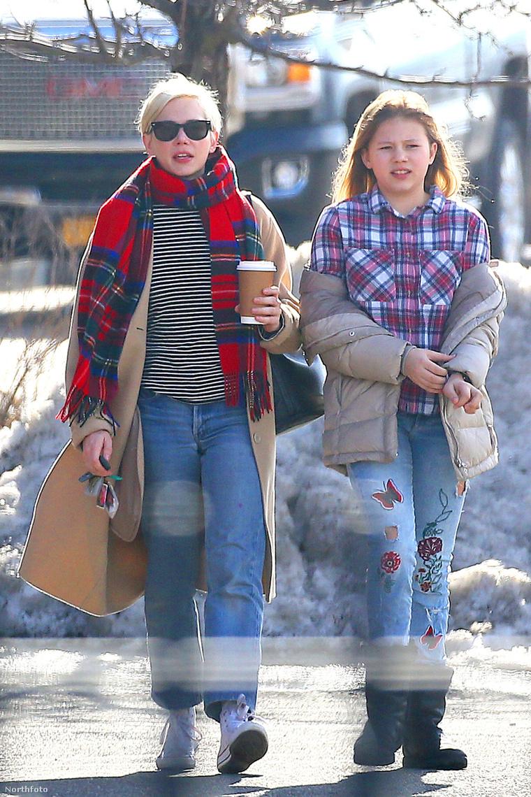 Michelle Williams és lánya, Matilda Rose Ledger.