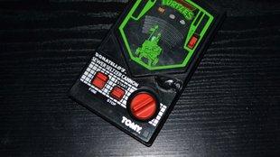Felhúzós arcade kézi játékgép a 80-as évekből