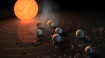 A NASA talált egy Föld-szerű bolygókkal teli naprendszert