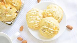 Pénteki süti: barackos-fehércsokis mandulás keksz