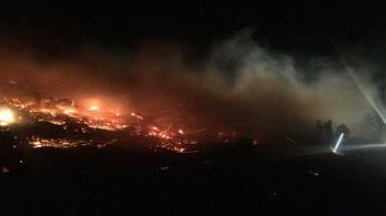 Órákig oltották a tüzet a Kőszegi-hegységben