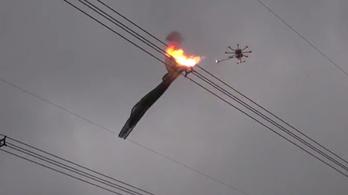 Kínának menő lángszórós drónja is van
