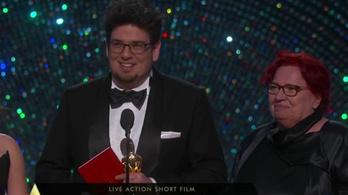 Így vette át az Oscar-díjat Deák Kristóf