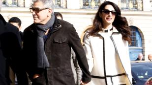 Párizsban romantikázva heverte ki a babavárás izgalmait a Clooney házaspár