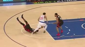 Hanyatt esésből az NBA legfurcsább szerelése jött össze