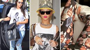 Nézzen rajongói pólót viselő sztárokat!