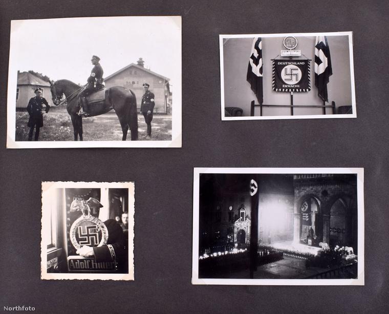 Eva Braun négyesével ragasztotta bele a felvételeket, a horogkereszt szimbóluma szemlátomást nagyon fontos volt számára
