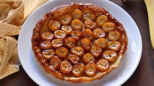 Karamellás-banános fordított torta
