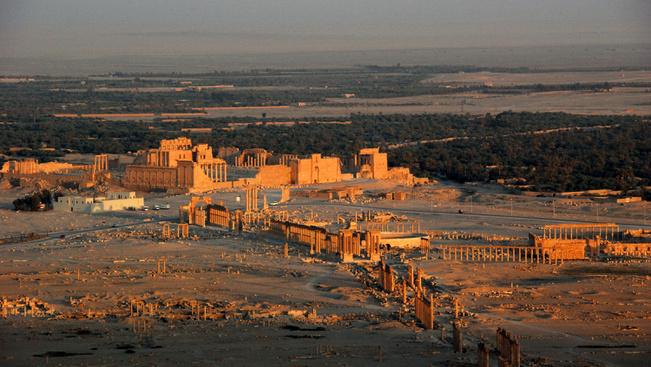 Itt az első drónfelvétel a visszafoglalt Palmüráról