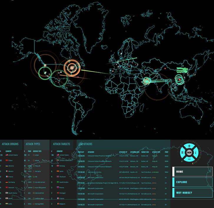 Norscorp realtime térképe