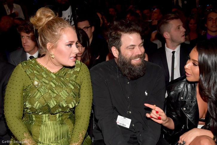 Adele és Simon Konecki az 59. Grammy Awards-on