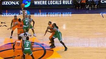 A csapattársak is röhögtek, amikor felugrott az NBA két törpéje