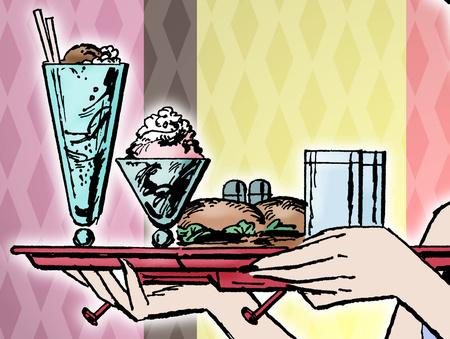 A szupershake-ben kábé annyi kalória van, mint a tálcán.