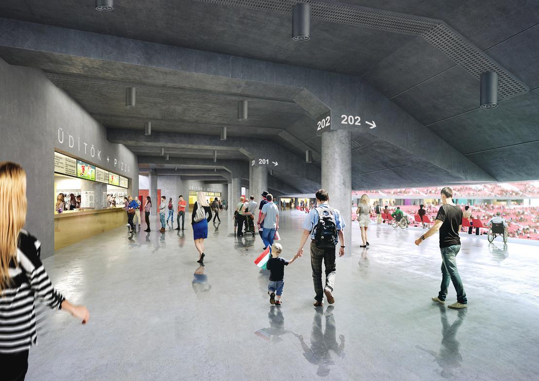 Az épülő stadion látványterve