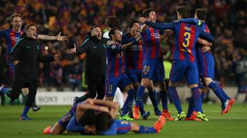 Történelem: 0-4 után hazai 6-1-gyel ment tovább a Barcelona