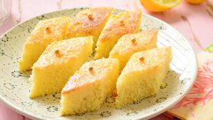 Pénteki süti: könnyű citromos kocka