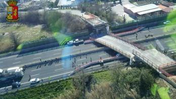 Leszakadt egy autópályahíd Olaszországban