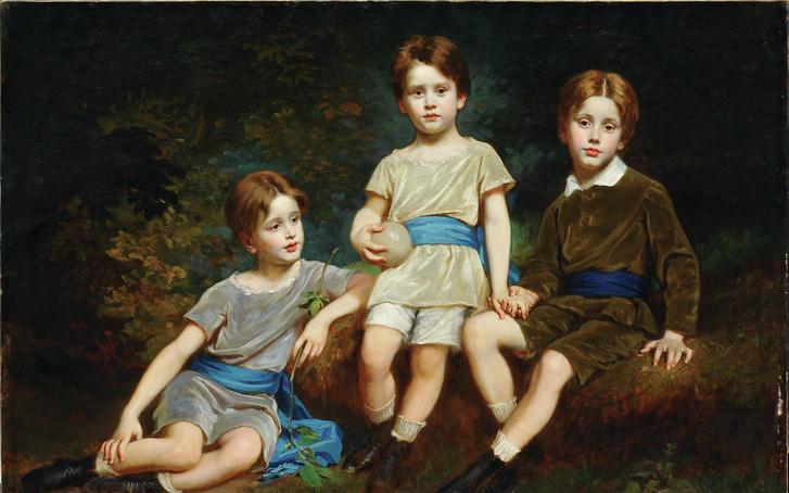 SZÉKELY Bertalan (1835-1910): Pfeffer Ignác unokái (1881) olaj, vászon, 124 x 168 cm