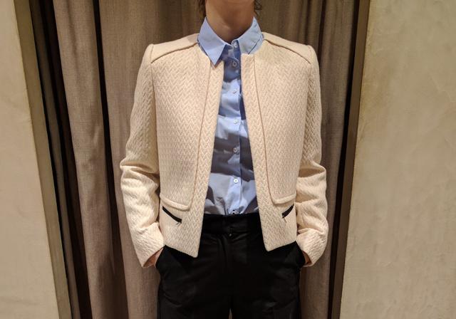 Mango:a kabátka 17995 forint, az ing 6995 forint,  a nadrág pedig 8995 forint