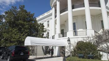 Egy ember bemászott a Fehér Ház kertjébe, és az elnöki rezidenciáig jutott