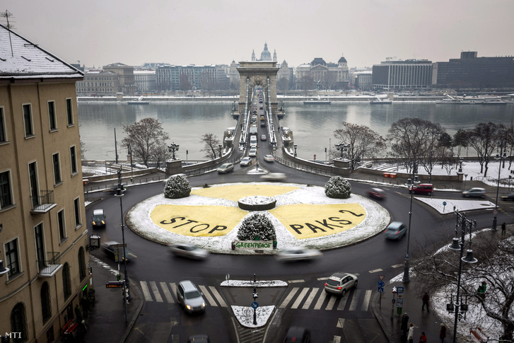 A Greenpeace tiltakozása 2014. január 30-án