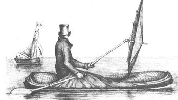 Esőköpenyből is lehet csónakot építeni