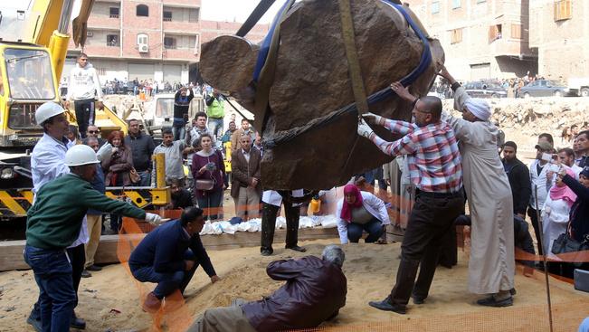 Nézze meg, mekkora a kairói Ramszesz-szobor