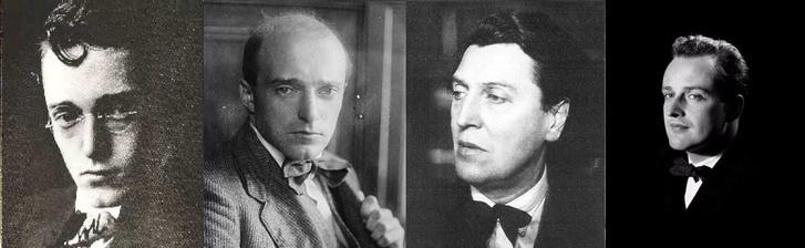 A fiatal Erich Kleiber két fotója, Alban Berg, illetve Carlos