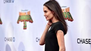 Angelina Jolienak nehéz dolga lesz eltüntetnie magáról ezt a Brad Pittes tetkót