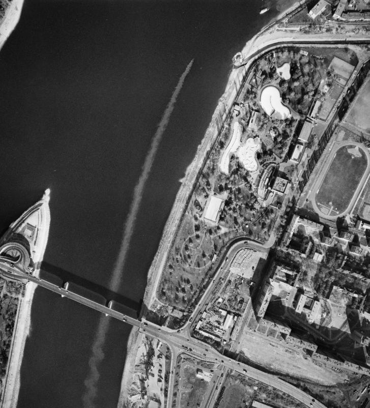 A Dagály és az Árpád híd 1971-ben