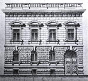 A palota homlokzatterve