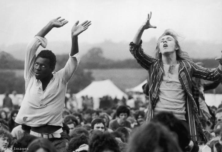 Eksztatikus zeneélvezet az Isle of Wight fesztiválon, 1969-ben - Képünk Illusztráció