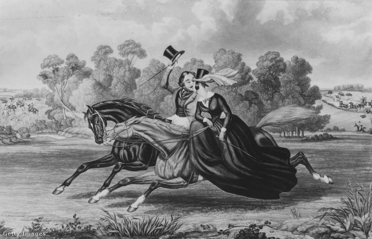 1850-ben még lóhátról lehetett csókot lopni.