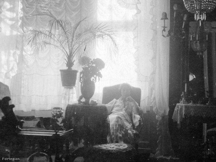 Titokzatos nő egy nagypolgári lakásban. Képünk csak illusztráció, hiszen Szabó Karolináról nem maradt fenn fotó