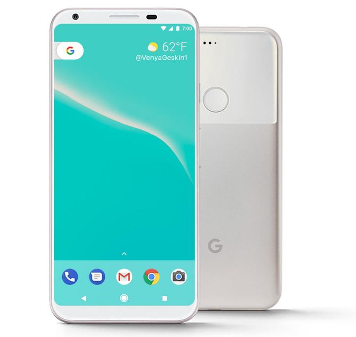 Nem hivatalos koncepció az új Google Pixel mobilokról