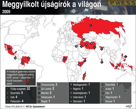 Tavaly a Fülöp-szigetek és Szomália volt a legdurvább hely (MTI)