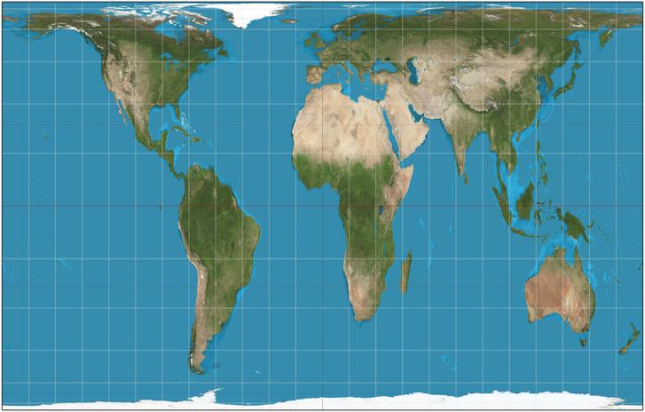 A Gall-Peteres térkép, ami jobban tükrözi a valós arányokat