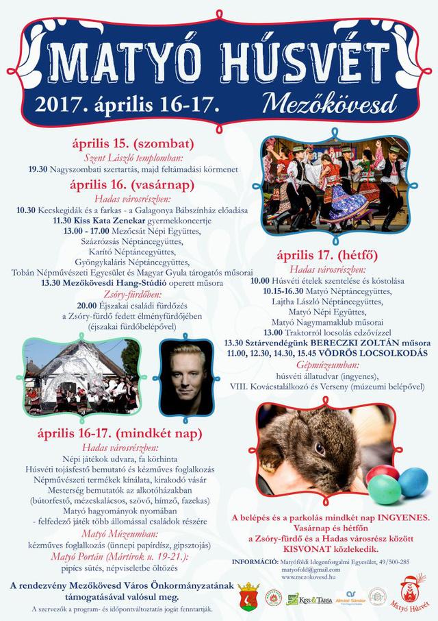 A matyó húsvét részletes programja